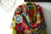 CRO/KNIT  Scarfs and Shawls / by Miriam cordero