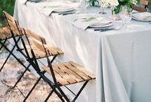 Linens/chairs