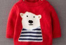 Gebreide baby en kinderkleding/ Knitted baby and children's clothing