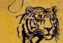 LSU / by Kelly Salario~Seaux Southern (machine embroidery)