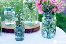 mason jar and glassware