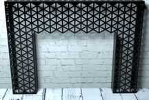 Laser cut wall furniture