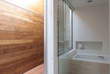 バスルームからの物干し空間
