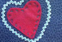 Stitches / Hand and machine sewn designs