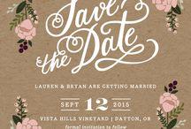 Bröllop inbjudan