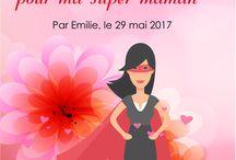 """Cadeaux pour la fête des mères : """"l'envolée de petits coeurs"""""""