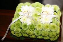 Portafedi fioriti / Flowers ring pillow / Idee per realizzare portafedi con i fiori/ Flowers ring pillow ideas
