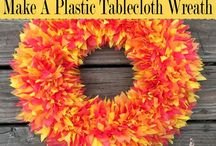 tablecloth wreath
