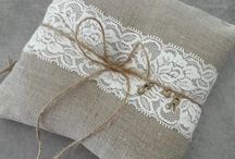 coussin alliance mariage broderie