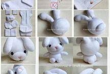 Maak knuffels / Knuffels maken met sokken