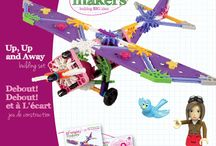 K'NEX Brands is introducing Mighty Makers, a line of construction toys designed to empower girls / An all-female marketing and design team created the new building sets, intended for girls ages 7 and up, to encourage science, technology, education, and mathematics (STEM) learning.