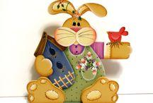 modelos de coelhos pra pascoa