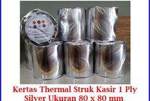 Kertas Struk Thermal / Menjual berbagai jenis kertas struk thermal untuk mesin printer kasir restoran, tempat parkir, spbu, mesin edc, mesin atm, dll
