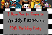 five nights at freddy`s party