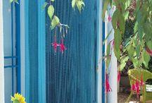 rideau de porte anti-mouche pour l'extérieur