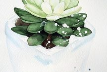 Watercolor - plant