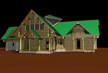 Log home 3D view