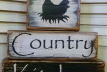 a shabby wood signs