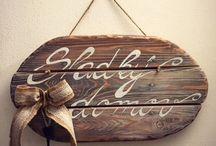 HomeWood / Originální dřevěné cedule