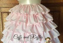 Ruffled Petticoat Dress / Creative Inspiration for the Handmaiden's Cottage Ruffled Petticoat Dress Girls PDF Sewing Pattern