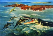 Illustration * Artis Natura Magistra * / Prehistoric animals illustrated