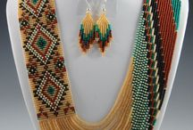 Navajo beadwork / Bead work designs that are similar to the rugs.