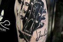 tattoo chitarra