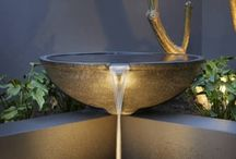 Water Feature with Lighting/Fire