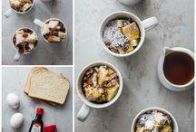Food: Mug cakes, breakfasts, etc.