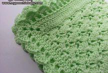 crochet green blanket