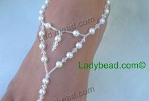 Barefoot Sandals / Ladybead Barefoot Sandals Jewelry for your beach wedding feet!