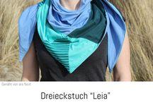 "Kundenfotos Dreieckstuch ""Leia"""