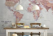 // TRAVEL-INSPIRED HOME DECOR / Bring the world inside your home! Here are some ideas to display your travel souvenirs, travel-inspired decor and design to fuel your wanderlust.