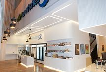 """Diet Watchers, chain of stores / The project was awarded with the """"5-Star Retail Interior Saudi Arabia"""", at the Arabian Property Awards 2016-2017. STIRIXIS Group collaborated with Diet Watchers, a retail catering business for diet food for subscribed members, in Saudi Arabia. Diet Watchers were seeking to launch a new retail concept in order to improve the performance of the retail areas and to roll out a chain of stores across the region, with strong brand identity, elite modern style and retail approach."""