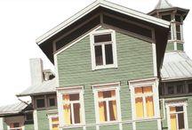 Ulkomaalaus / Sävylä Ulkomaalien Värisuunnittelu on Värisilmän oma, uudenlainen asiantuntijapalvelu, joka auttaa sinua löytämään oikeat sävyvalinnat ja laadukkaat tuotteet kaikkiin ulkomaalausurakkasi vaiheisiin. http://www.varisilma.fi/savyla/ / by Värisilmä