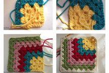 Afghan crochet squares