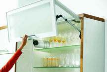Blum Aventos Cabinets / Blum Aventos lift systems allow the home user to lift cabinet doors up and out of the way.
