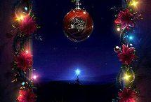 Christmas time mistletoe and wine