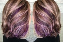 pink gold  & violet color for  short hair / inspirationfor hair wavy   and more.!