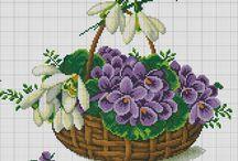 Виш: квіти-корзинки