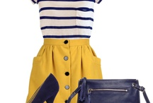 Fashion  - Navy & Yellow Theme Fashion