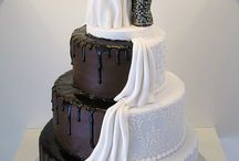 Half and Half Wedding Cakes