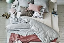Comfortable bed = sweet dreams! / Grey -  beige, natural colors, comfortable bed, boxspringbed. Schlafzimmer
