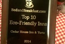 Inn Awards / Awards given to Cedar House Inn and Yurts that are not guest related.