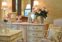 Pink and cream office