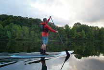 Sports / Décidément, on aime jouer dehors à Sherbrooke. À pied, à vélo, en kayak ou en surf à pagaie, explorez Sherbrooke d'un tout autre point de vue.