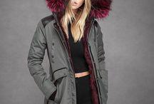 Winter Coats / Pink/Khaki