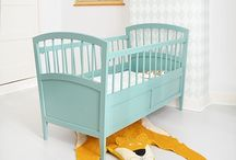 Retro baby bed kleuren