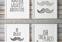 Moustache Baby Room