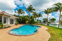SOLD ~ 770 Lake Road / ST BARTHS STYLE BUNGALOW ON 100 FEET OF WATERFRONT! Dock your boat at this 3 bedrooms split floorplan with hardwood floors throughout. Master Bedroom with large walk-in closet and french doors to pool and patio. Freeform Pool on the water with patio and garden for outdoor entertaining. Sits on the mouth of the bay with easy access to Wide Bay | Sold: $3,500,000 Rented: $7,500/month